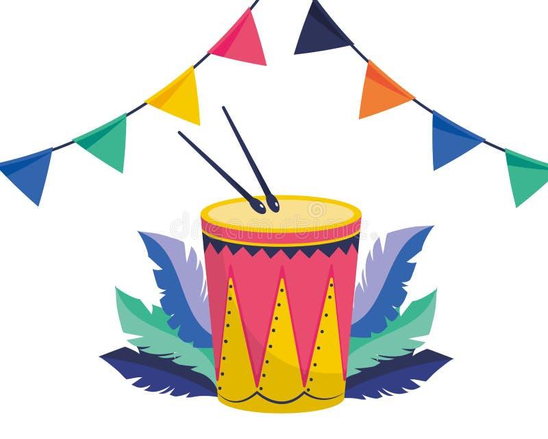 Strumenti musicali del tamburo royalty illustrazione gratis