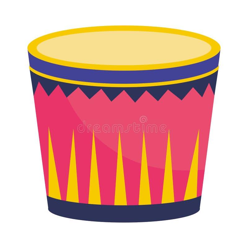 Strumenti musicali del tamburo illustrazione vettoriale