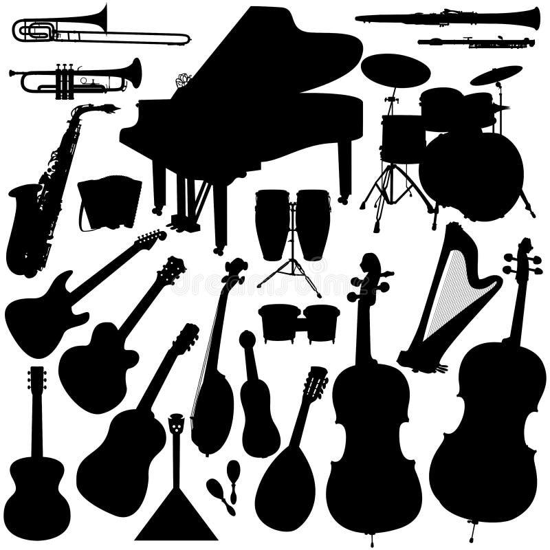 Strumenti musicali - orchestra illustrazione di stock