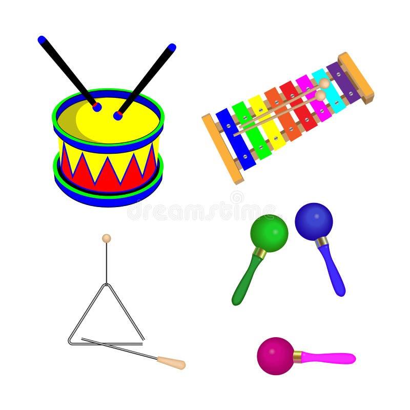 Strumenti musicali per i bambini immagini stock