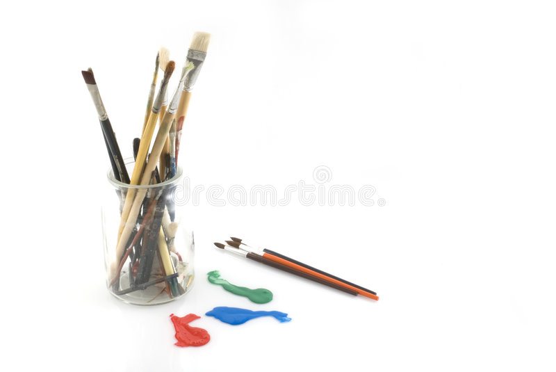 Strumenti per l'artista immagini stock libere da diritti