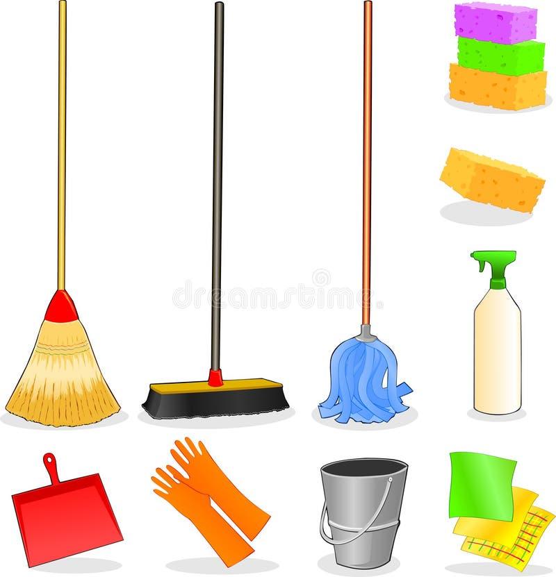 Strumenti per pulizia illustrazione vettoriale