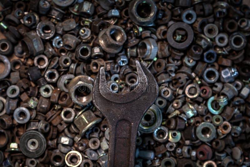 Strumenti posti piani del metallo immagine stock libera da diritti