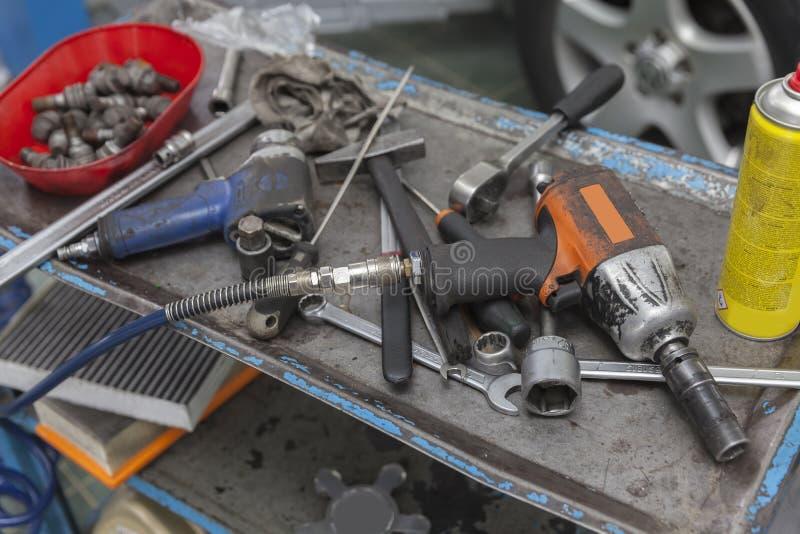 Strumento del meccanico di automobile fotografie stock libere da diritti