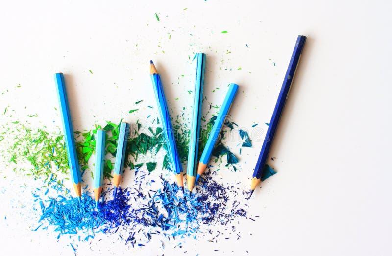 Strumento della matita sotto forma di barretta fatta del materiale di scrittura fotografia stock