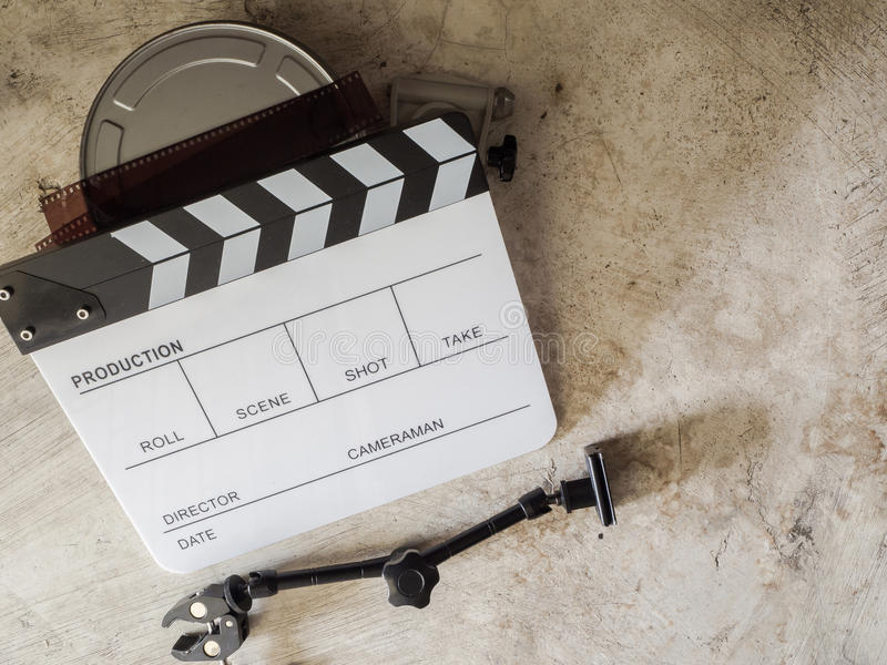 Strumento di film dell'ardesia del film fotografie stock