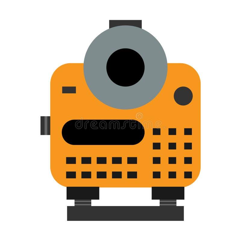 Strumento di misura ottico di distanza Illustrazione di vettore fotografie stock
