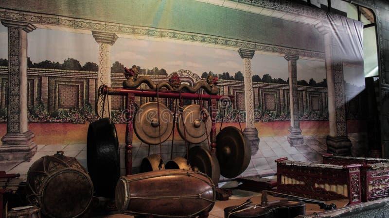 Strumento di musica tradizionale indonesiano, Gamelan di Giava immagini stock libere da diritti