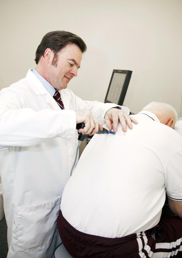 Strumento di registrazione di chiroterapia immagini stock