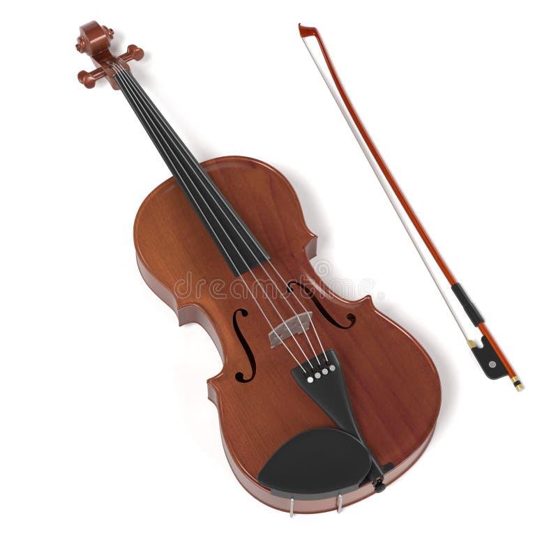 strumento musicale del violino illustrazione di stock