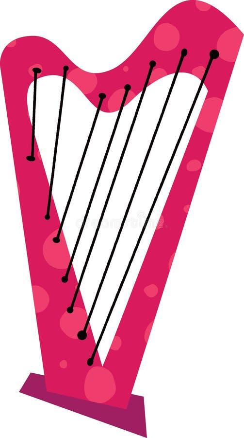 Strumento musicale dell'arpa illustrazione di stock