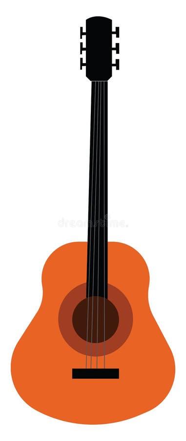 Strumento musicale noto come chitarra bass con stringhe di disegno o illustrazione a colori vettoriale royalty illustrazione gratis