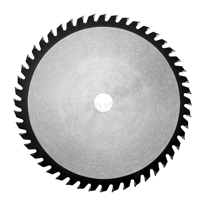 Strumento, sega, disco del metallo con i denti immagini stock libere da diritti