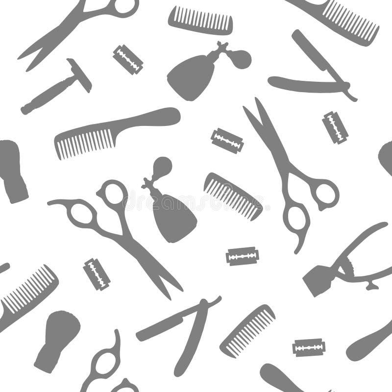 Strumento stabilito del modello senza cuciture per il parrucchiere royalty illustrazione gratis