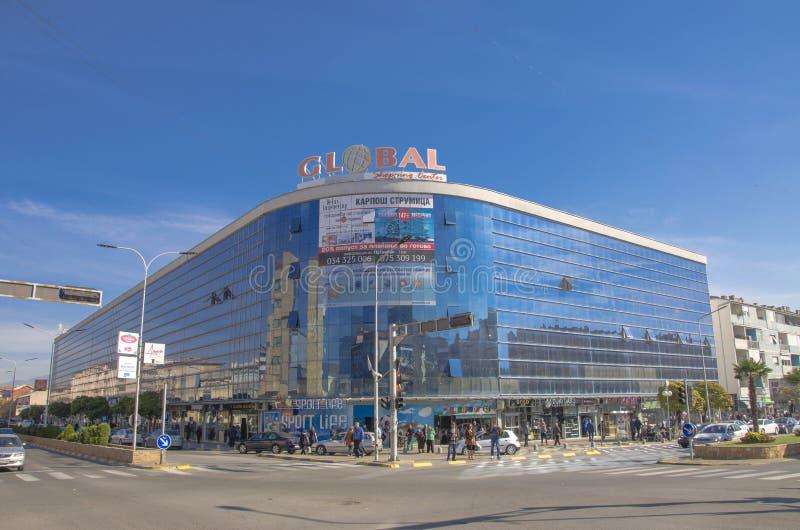 Strumica, Macedônia - centro de comércio global imagem de stock royalty free