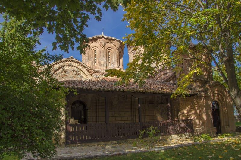 Strumica Makedonien - Veljusa kloster royaltyfria foton