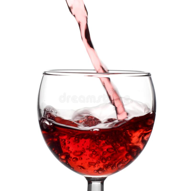Strumień czerwone wino zdjęcie stock