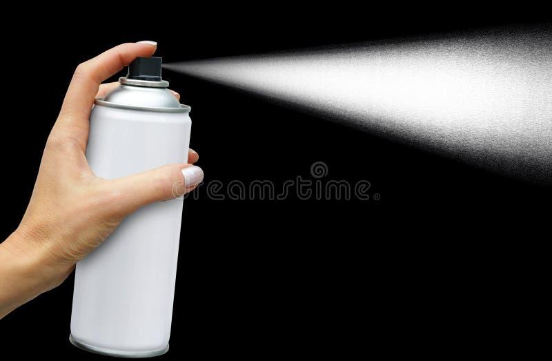 Strumień od aerosol puszki zdjęcie stock