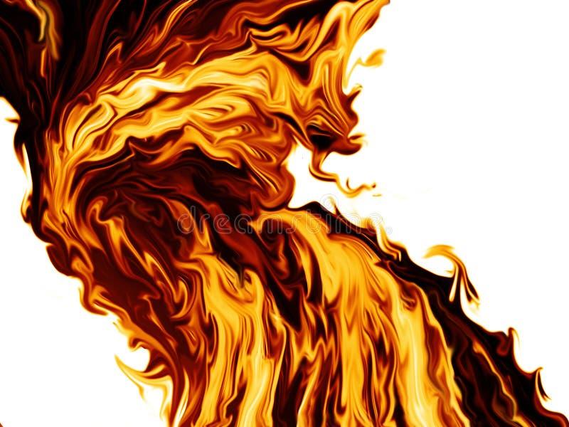 Strumień ogień ilustracja wektor