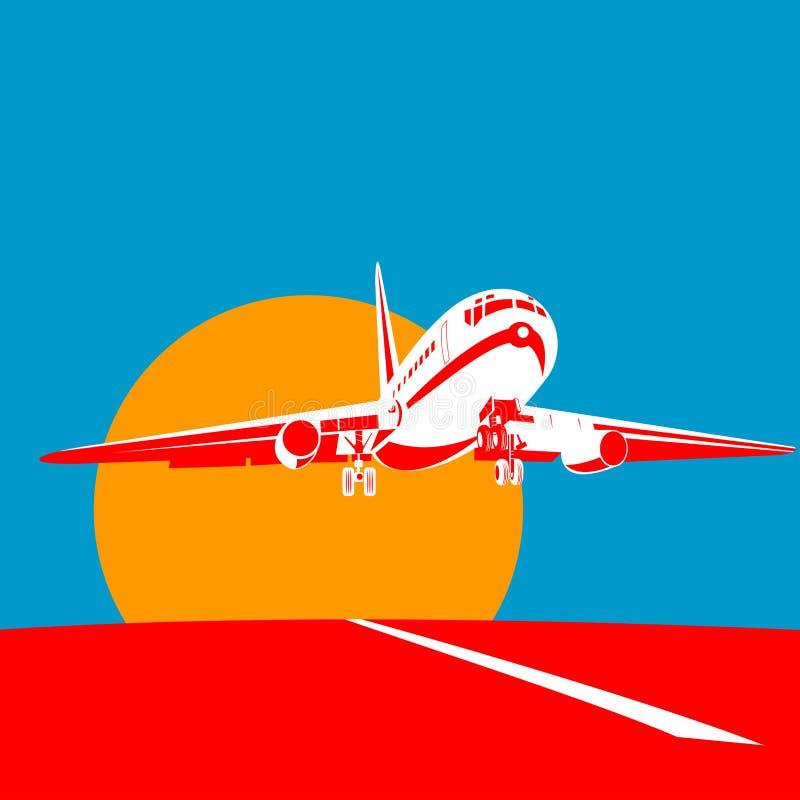 strumień z samolotu na royalty ilustracja