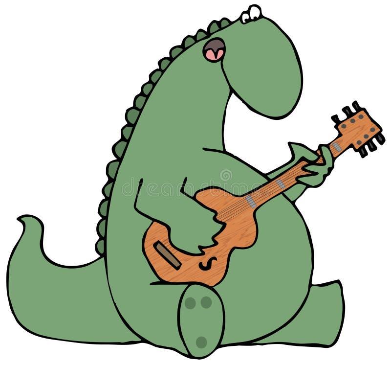 strumming för dinosaurgitarr vektor illustrationer