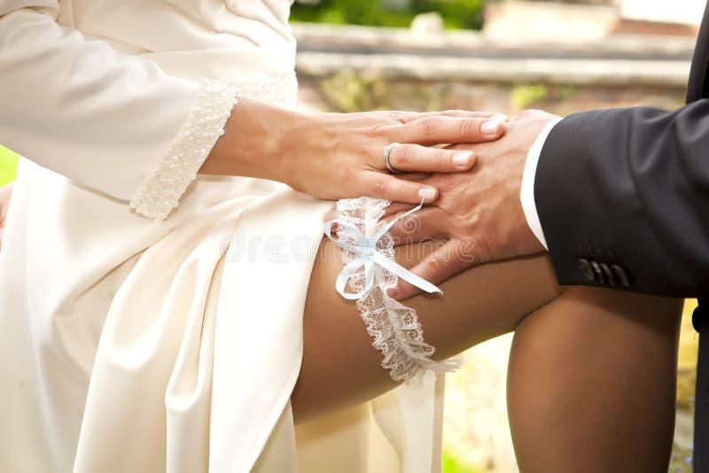 Strumpebandbrölloptillbehör royaltyfri bild