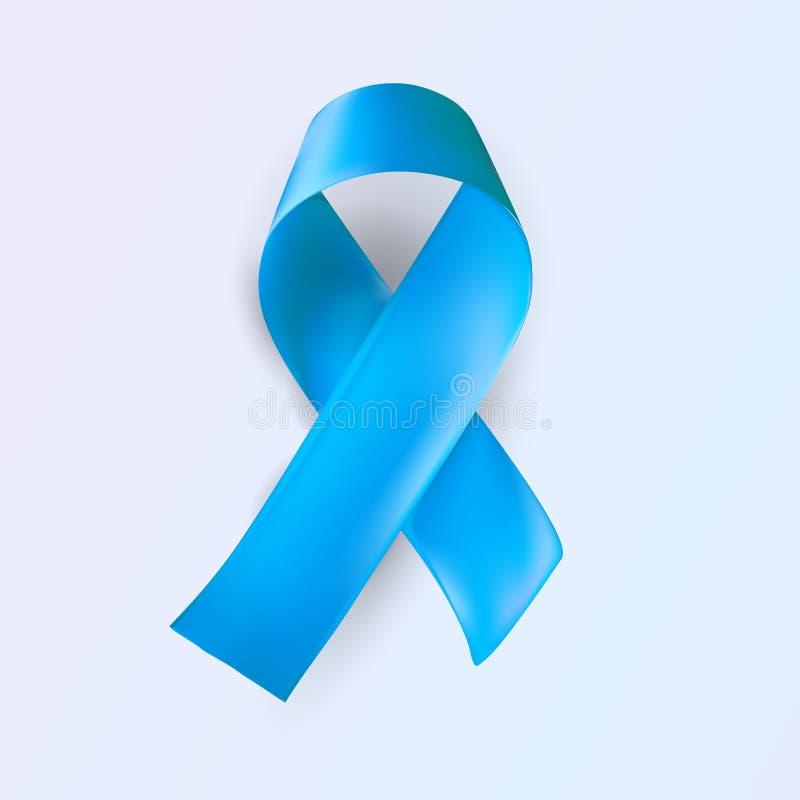 Strumpebandsorden abstrakt medicinskt symbol Symbol för dag för världssjukdommedvetenhet Realistisk strumpebandsorden på vit bakg royaltyfri illustrationer