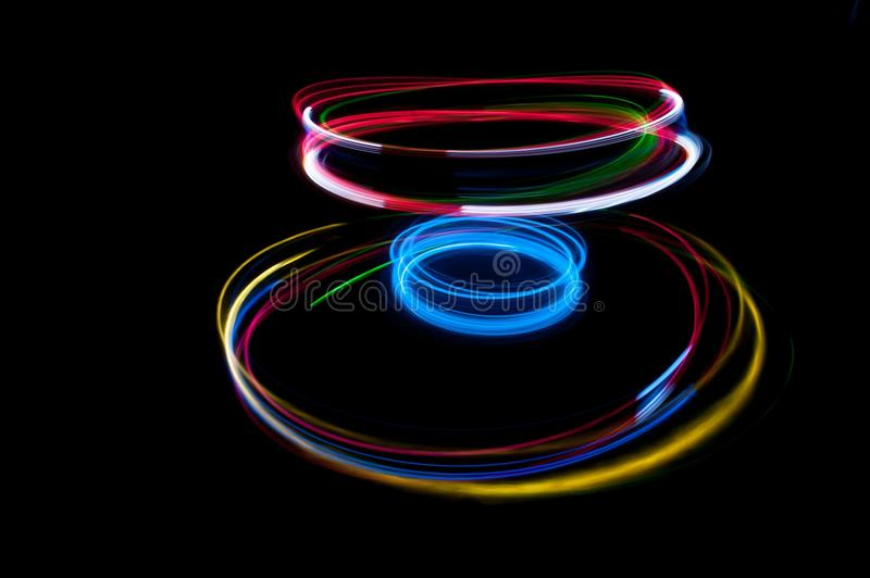 Strung with light stock image