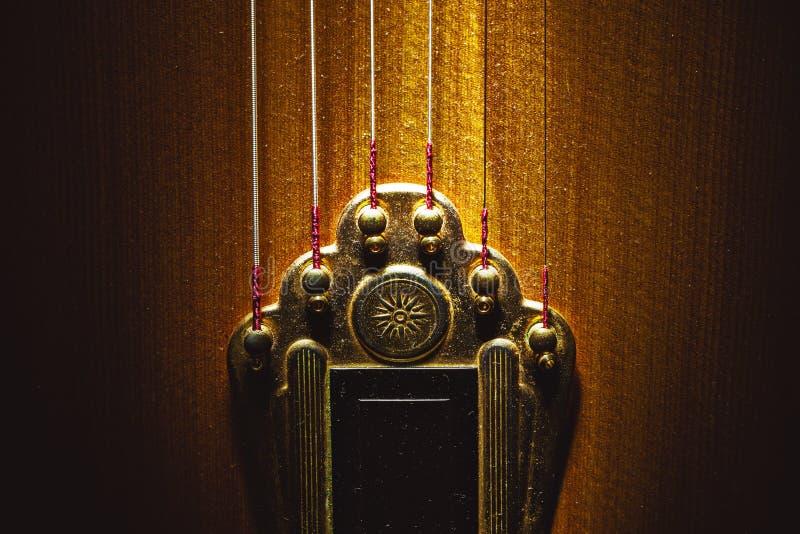 Strunnik gitara akustyczna zdjęcie stock