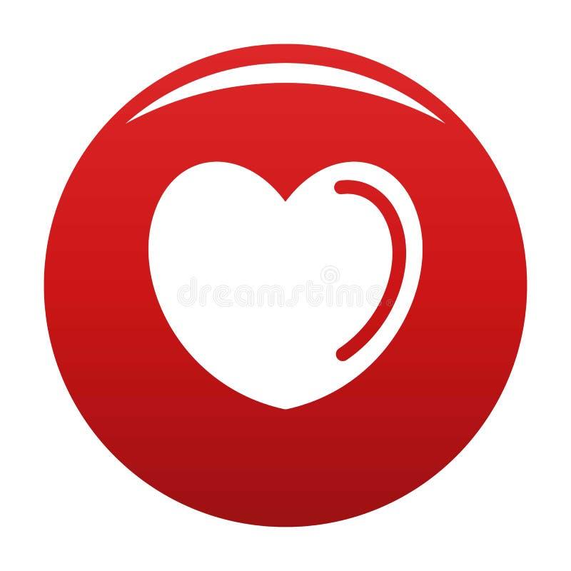 Struta kierowa ikona wektoru czerwień ilustracja wektor