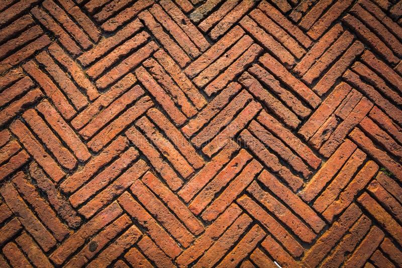 Struttura al suolo antica dei mattoni fotografia stock
