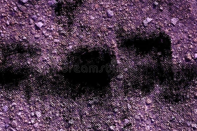 Struttura al suolo ultra porpora di lerciume, superficie della sabbia, fondo di pietra, buon per l'elemento di progettazione immagini stock