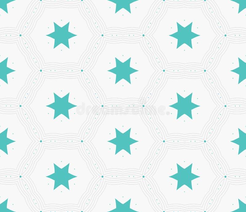 Struttura alla moda moderna della stella di esagono Mattonelle geometriche delicate royalty illustrazione gratis