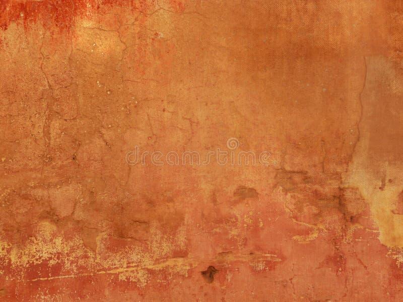 Struttura arancio di lerciume - fondo di terracotta fotografia stock libera da diritti