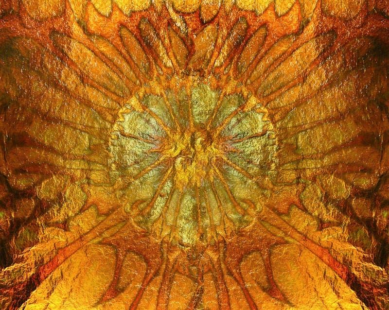 Struttura arancio vibrante astratta dell'oro, fondo immagini stock libere da diritti