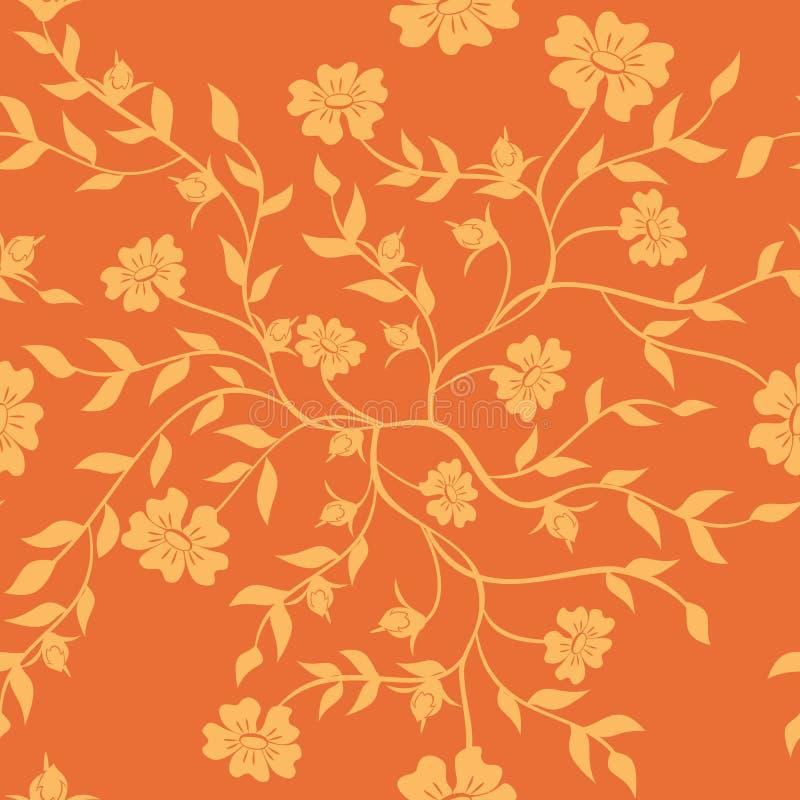 Struttura arancione con le piante illustrazione di stock