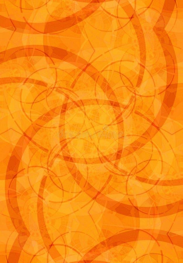 Struttura arancione degli ambiti di provenienza illustrazione di stock