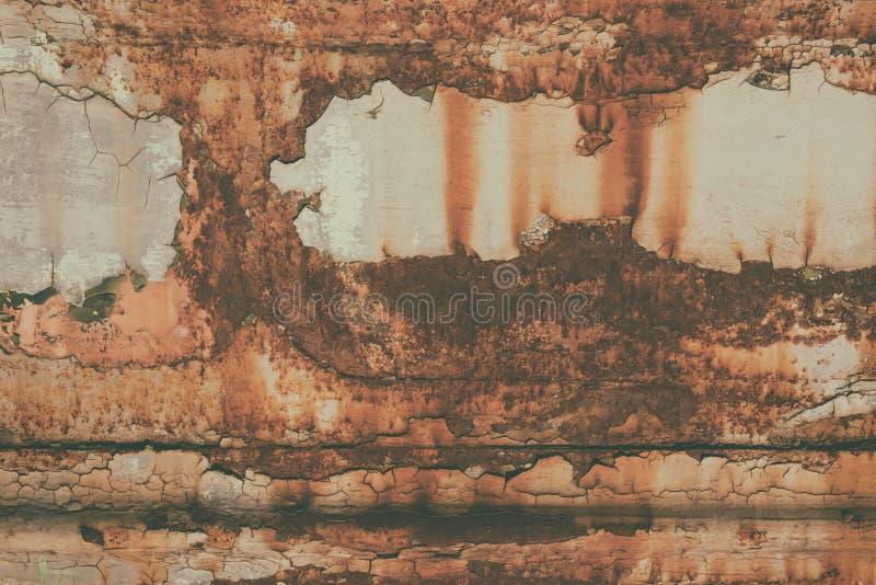 Struttura arrugginita del metallo di lerciume vecchia, immagine d'annata, fondo astratto immagine stock libera da diritti
