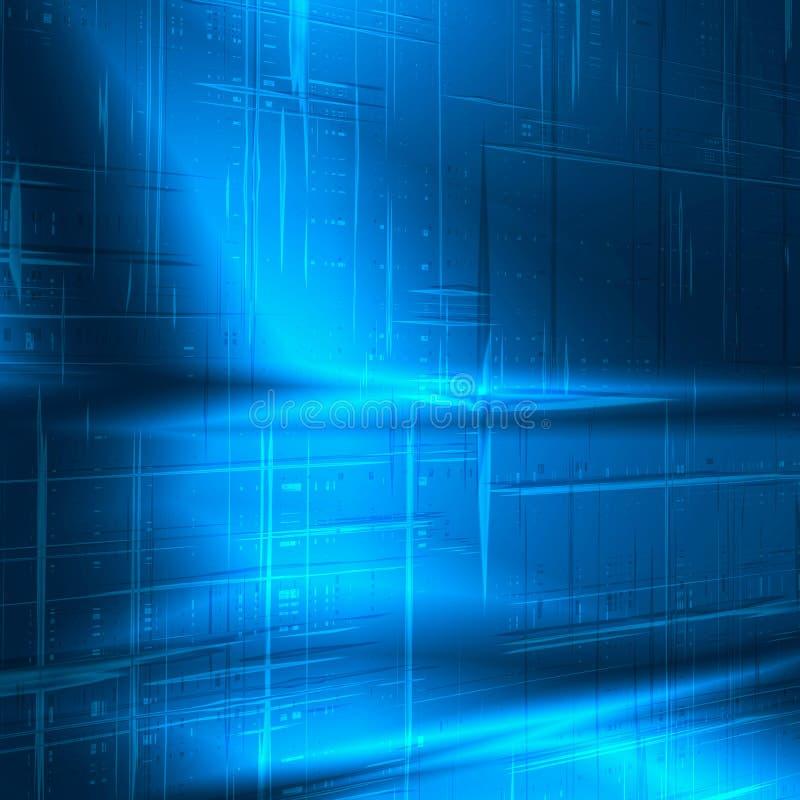 Struttura astratta blu di nuova tecnologia della priorità bassa royalty illustrazione gratis