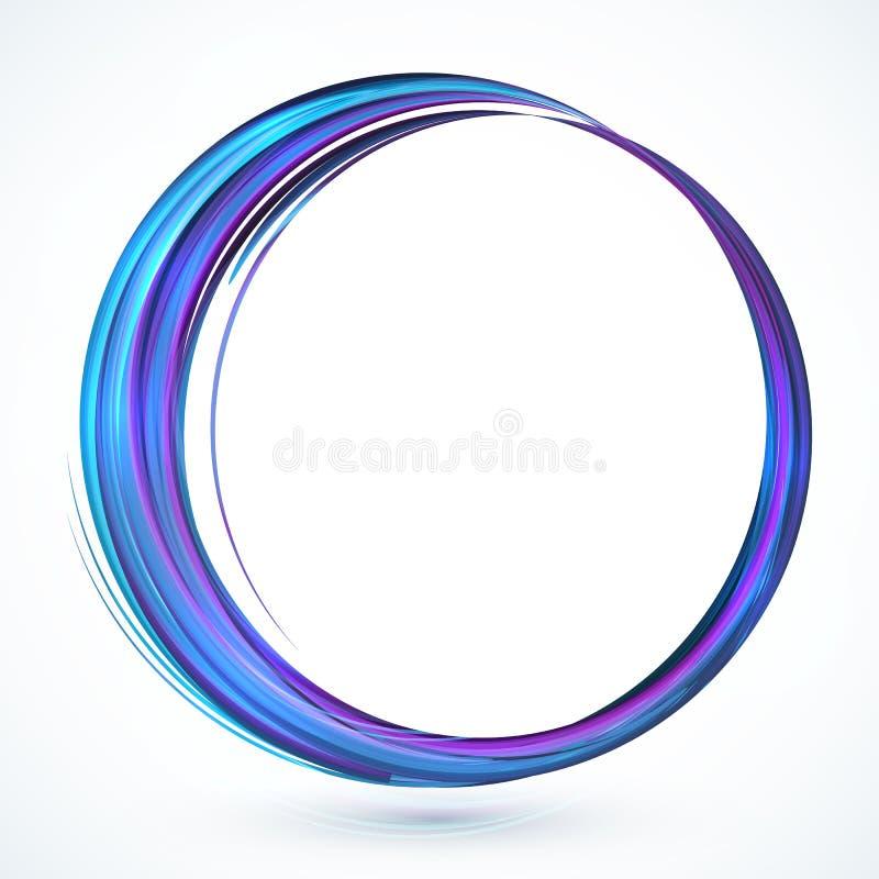 Struttura astratta brillante blu del cerchio di vettore illustrazione di stock