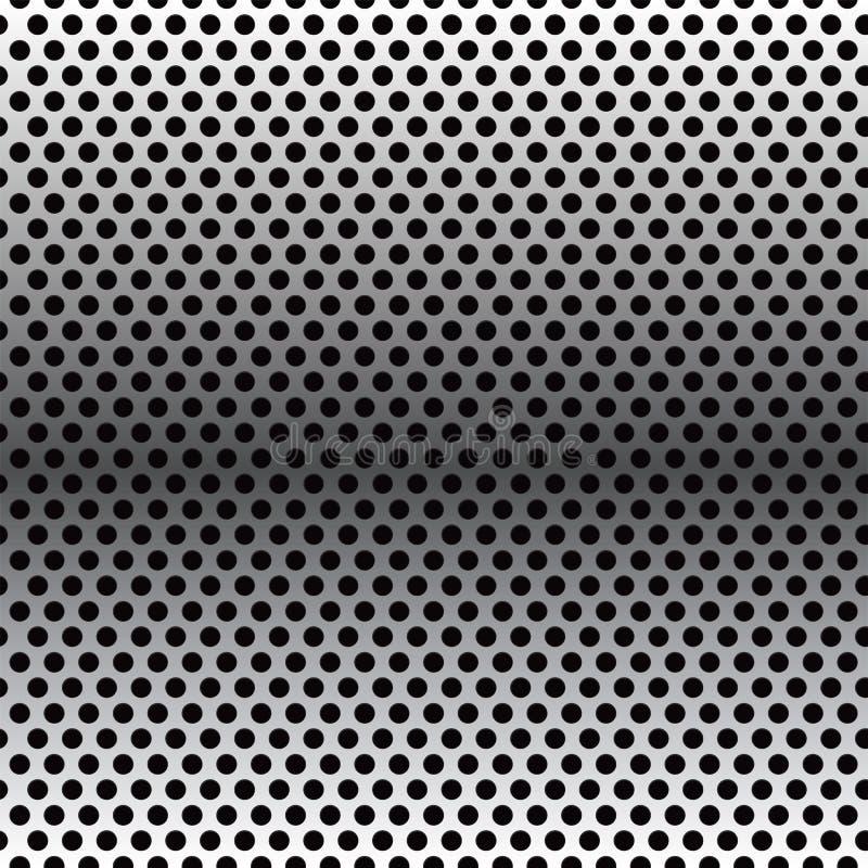 Struttura astratta del fondo della carta da parati del modello della maglia del cerchio del metallo illustrazione vettoriale