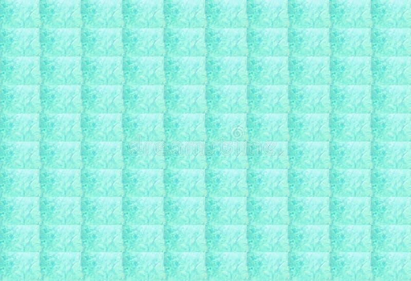 Struttura astratta del fondo geometrico rettangolare blu-chiaro al neon Può essere usato per progettazione della copertura, la pr illustrazione di stock
