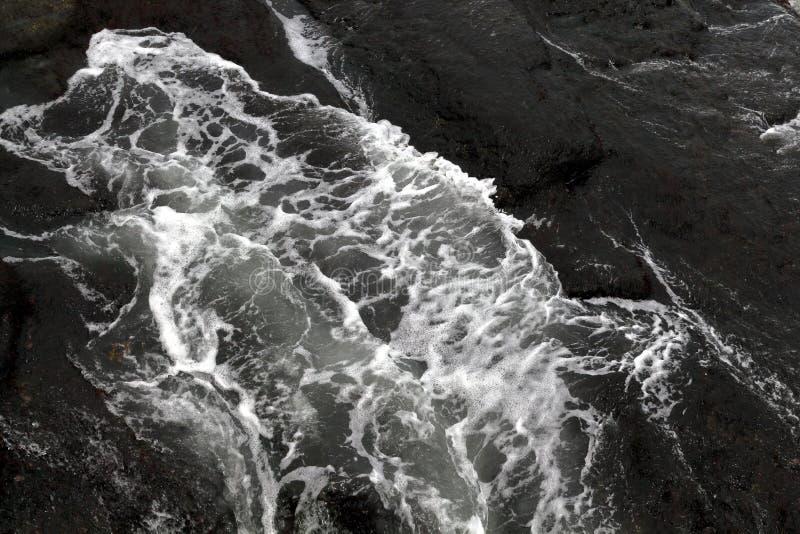 Struttura astratta dell'onda del mare Oceano Wave fotografie stock libere da diritti