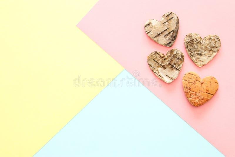 Struttura astratta della carta colorata del pastello Forme e linee geometriche minime concetto di progetto d'avanguardia forme di fotografia stock
