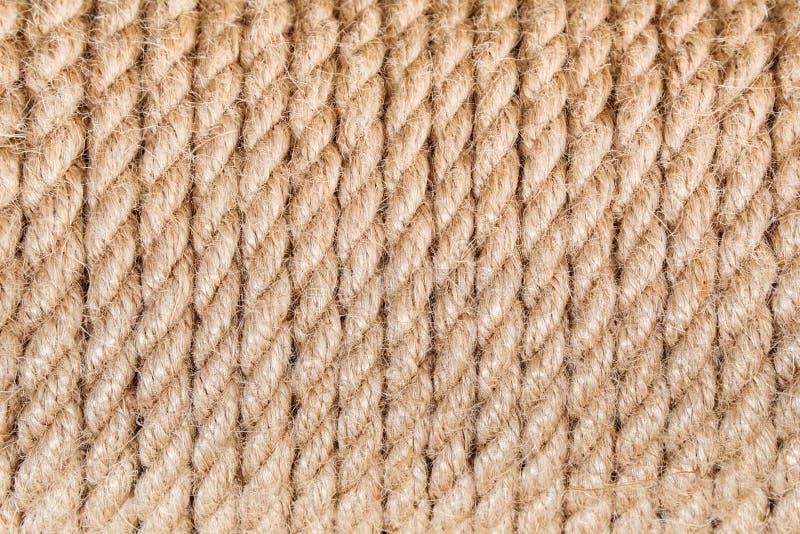 struttura astratta della corda marrone della iuta fotografie stock libere da diritti