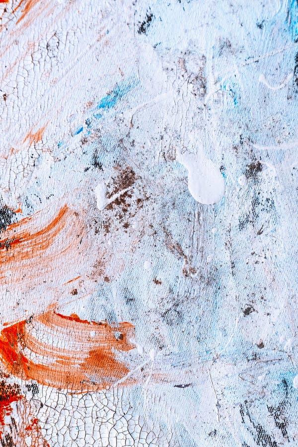 Struttura astratta della pittura su tela per progettazione immagine stock