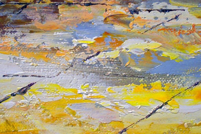 Struttura astratta della pittura su tela fotografie stock libere da diritti