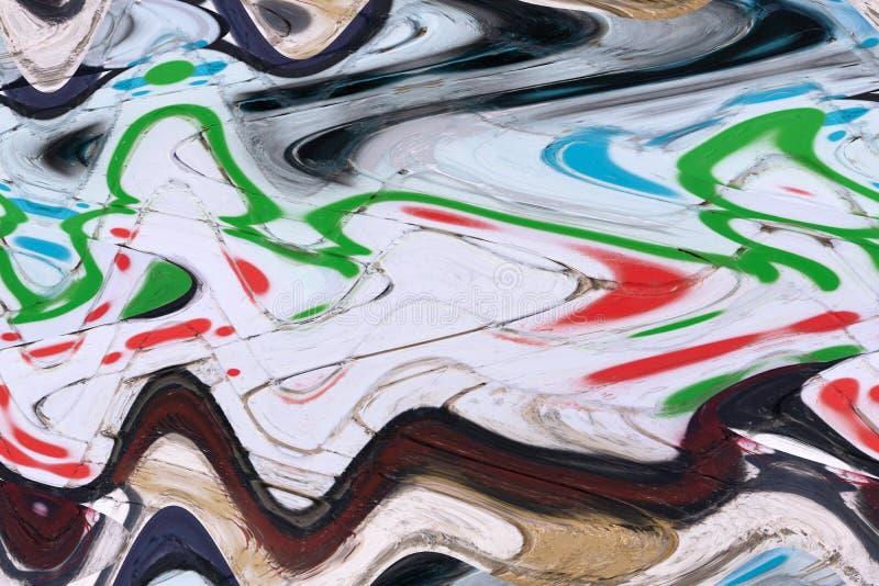 Struttura astratta di marmorizzazione di carta liquida della pittura del liquido del fondo della pittura, tecnica di arte Miscela fotografia stock libera da diritti