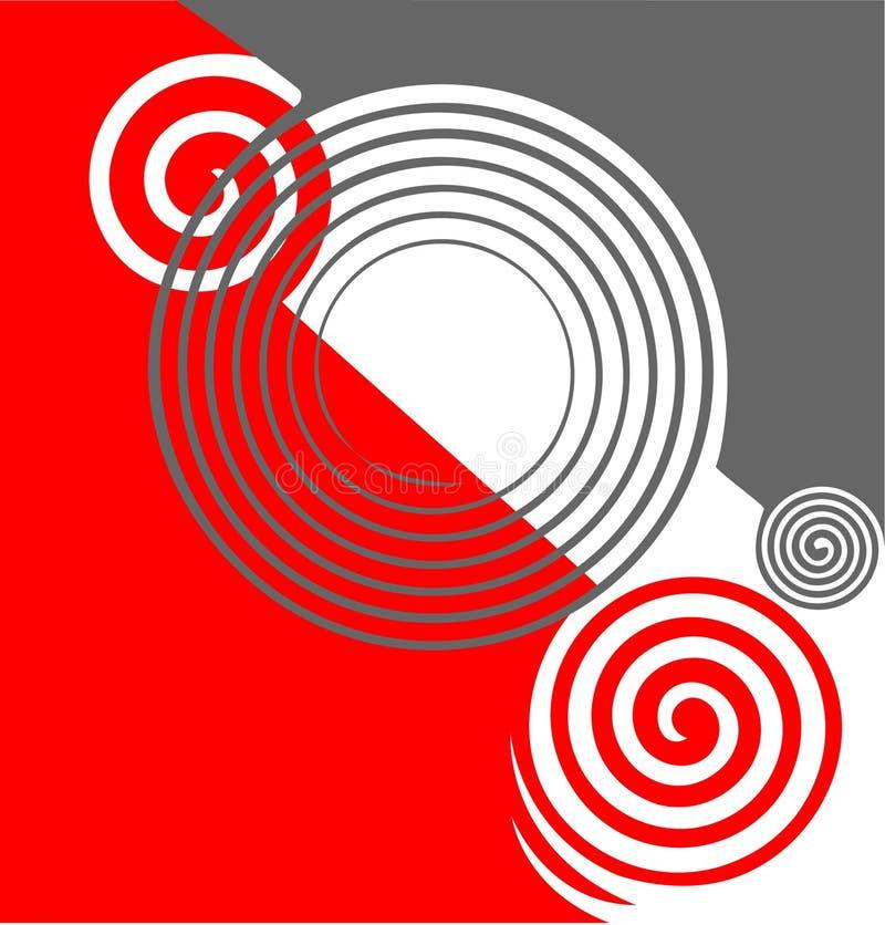 Struttura astratta di rotazioni. illustrazione di stock
