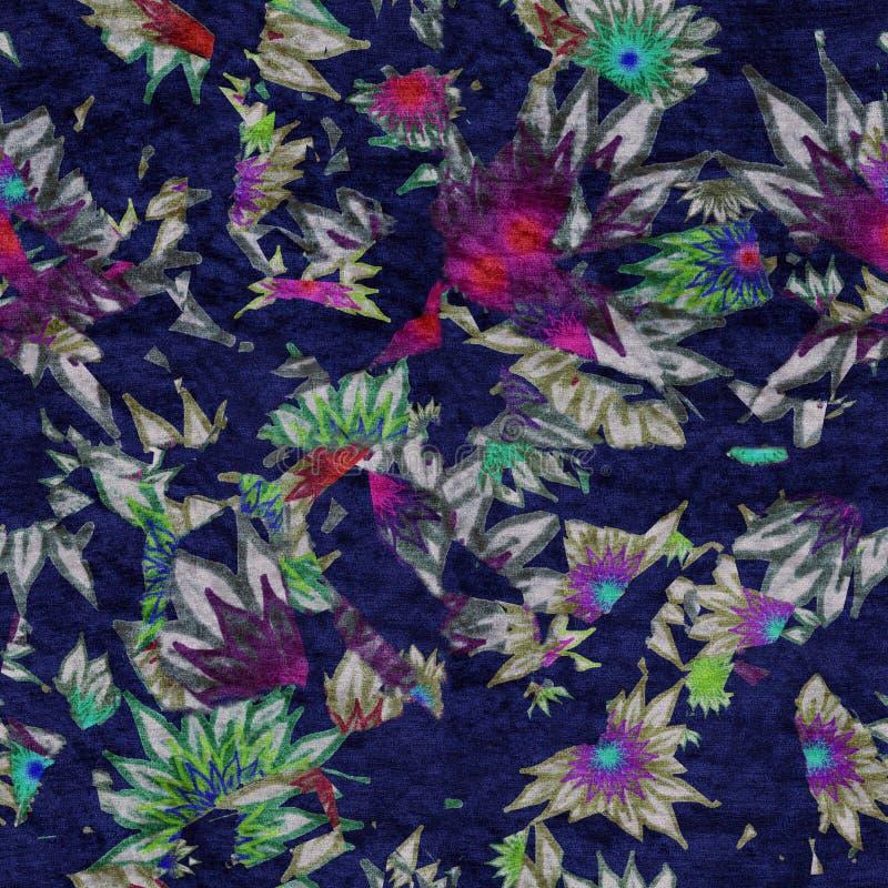 Struttura astratta floreale/immagine di sfondo del velluto senza cuciture fotografia stock libera da diritti